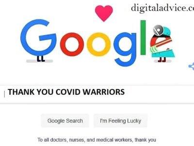 Thanks to all the Covid19 fighters। Google Doodle digitaladvice